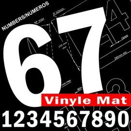 Numéros de course homologués vinyle mat