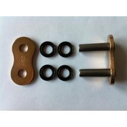 Maillon à riveter creux couleur or AFAM pour chaîne XSR 520