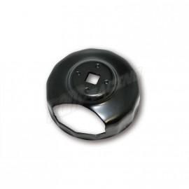 Clé pour filtre à huile 74 mm avec découpage