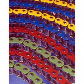 Chaîne AFAM 520 XHR2-G Xs-ring Hyper renforcée couleur bleu, orange, rouge, vert