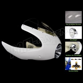 Kit Semi-carénage fibre de verre 1000S 07-09, Paul Smart, Laverda, Moto Guzzi