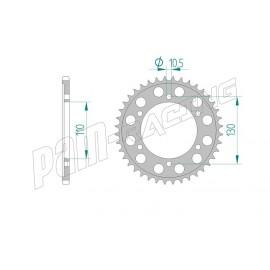 Couronne Aluminium AFAM 520 YAMAHA R1 98-12 / R6 03-12 / FZ1 06-12 / FZ6 04-12