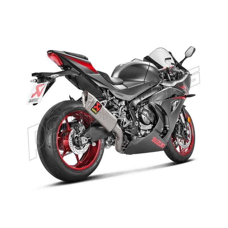 ligne d 39 chappement racing titane akrapovic gsxr1000 2017 2018 pam racing. Black Bedroom Furniture Sets. Home Design Ideas