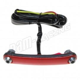 Feu arrière racing souple à LED Rouge fixation vis pour endurance, vitesse, pluie