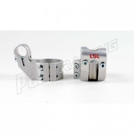 Bracelets de guidon racing 5° position relevée +37 mm LSL diamètre 56 mm