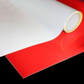Adhésif rétroréfléchissant blanc ou rouge 61*61 cm