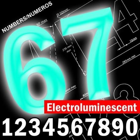 Numéros de course homologués électroluminescent