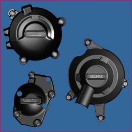 Kit de 3 Protections de carter GB Racing 675R Daytona 2013-2016, 660/765 Street Triple 2017-2021, Daytona Moto 2 765 2019-2020