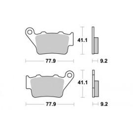 Plaquettes de freins arrière AP RACING route métal fritté S1000RR 09-14, HP4