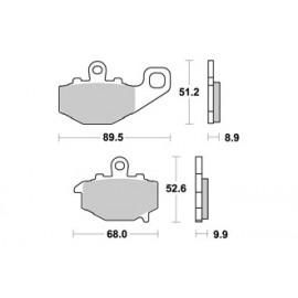Plaquettes de freins arrière AP RACING route métal fritté ZX6RR 09-15