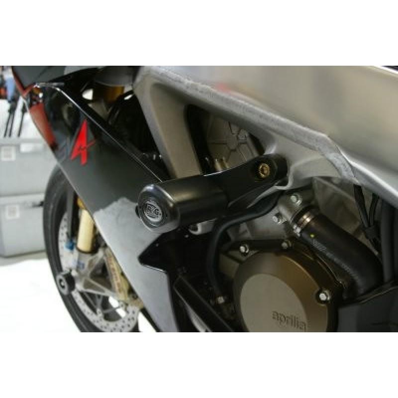 Tampons de protection R/&G RACING Aero noir Aprilia Tuono V4//R