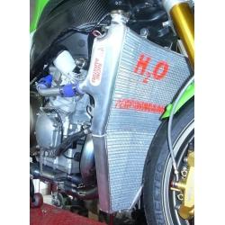 Radiateur d'eau grande capacité Kawasaki ZX-6R 2005-2006 H2O Performance