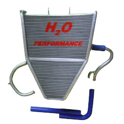Radiateur d'eau grande capacité Kawasaki ZX-6R 2009-2015 H2O Performance