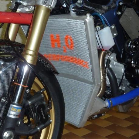 Radiateur d'eau grande capacité H2O performance Suzuki GSXR 600 / 750 L1-L3