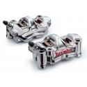 Paire d'étriers de frein radiaux taillés masse assemblés HPK BREMBO GP4 RX 32/32 100mm