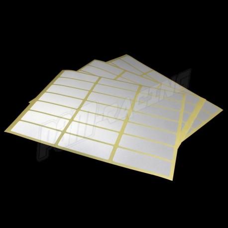 Etiquettes rétroréfléchissantes blanches ou rouges 25*80 mm