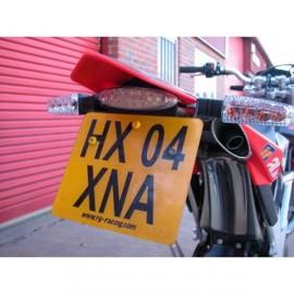 Support de plaque d'immatriculation R&G Racing SVX 450, 550 2005-2007