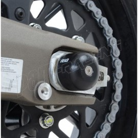 Tampons de protection de bras oscillant R&G Racing BWM / Suzuki /Yamaha avec diamètre d'axe arrière de 16mm / 24mm