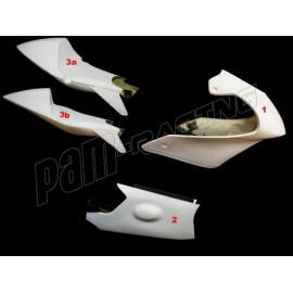 Carénage poly complet 3 parties fibre de verre Version 3 MOTO3 Honda NSF 250R MOTOFORZA