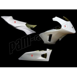 Carénage poly complet 3 parties version 2 fibre de verre MOTO2 ICP