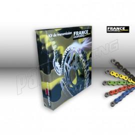 Kit chaîne racing couronne acier RK525RO FRANCE EQUIPEMENT S1000RR 12-14