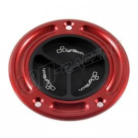 Bouchon de réservoir à vis LIGHTECH Ducati / Yamaha / MV Agusta couleur rouge