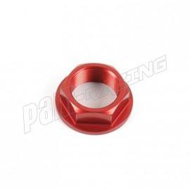 Écrou d'axe de roue arrière en aluminium anodisé taillé masse M22 x 1,5 LIGHTECH