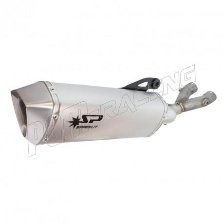 Demi-ligne racing inox ou titane + silencieux titane R1 2015-2020 SPARK
