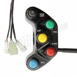 Commodo racing gauche ZX10R 2011-2015 Plug & Play Carraro Engineering
