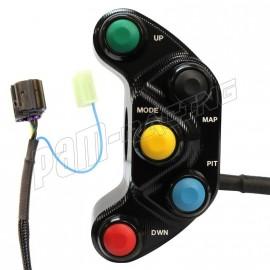 Commodo racing gauche R1 2015-2018 Plug & Play Carraro Engineering