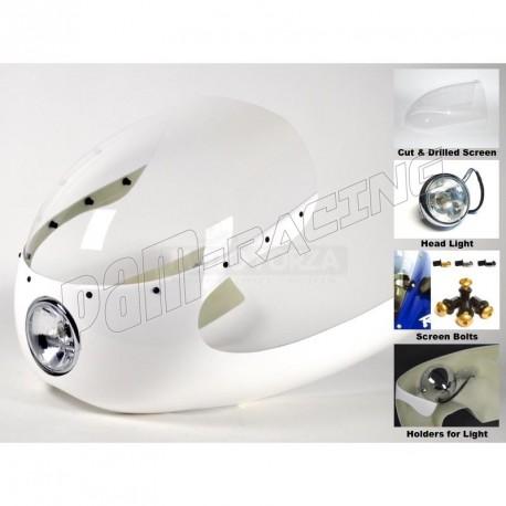 Kit Semi-carénage fibre de verre Aermacchi 250-350-402,BMW, DUCATI, Moto Guzzi. MOTOFORZA
