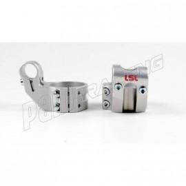 Bracelets de guidon racing 5° position relevée +37 mm diamètre 50 mm LSL