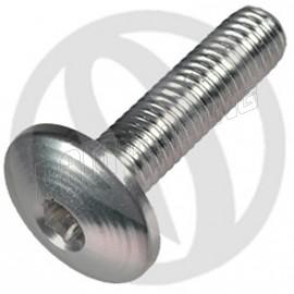 Vis aluminium tête bombée M5x10 argent LIGHTECH