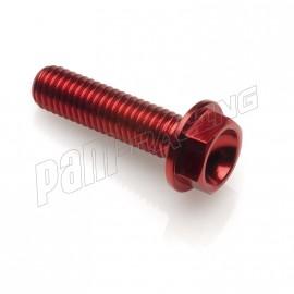 Vis aluminium tête héxagonale M6x60 rouge LIGHTECH
