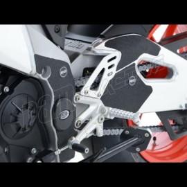 Adhésif anti-frottement cadre/bras oscillant noir 5 pièces R&G Racing RSV4 2009-2018, TUONO V4 2011-2014, TUONO V4 1100 2015-201