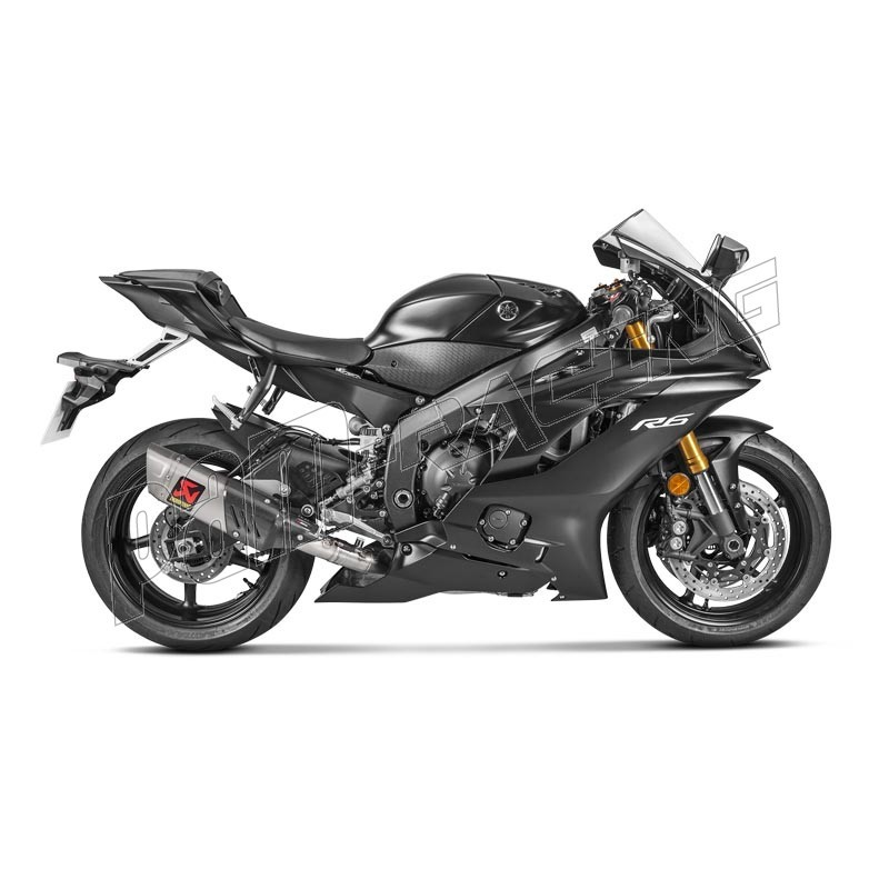 ligne d 39 chappement volution titane akrapovic r6 2017 2018 pam racing. Black Bedroom Furniture Sets. Home Design Ideas