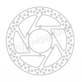 Disque de frein flottant Halo 298 mm ep 5.0 mm Aprillia: Pegaso 600/650/Trail, Husqvarna TR650 Moto-Master