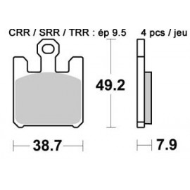 Plaquettes de freins avant AP RACING racing carbone ZX-6R, ZX-10R, ZX-12R, GSX-R 1000