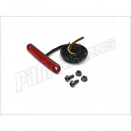 Feu arrière racing souple à LED Rouge fixation vis pour endurance, vitesse, pluie ZETA