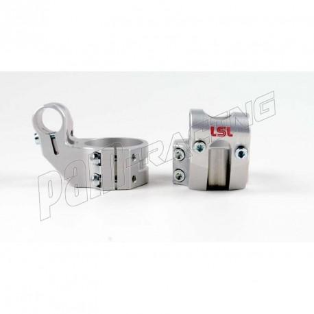 Bracelets de guidon racing 5° position relevée +37 mm LSL diamètre 45 mm