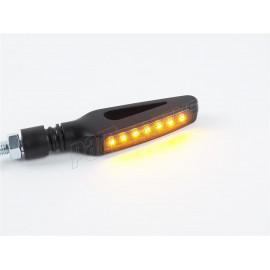 Paire de clignotants a LED LIGHTECH en ABS homologués E8 avec feu séquentiel