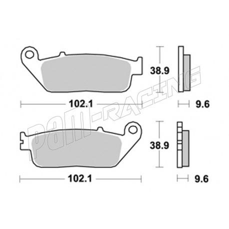 2 plaquettes de frein Av Brembo Honda CBR 300  600 650 F CB 650 CBF 500 600 S