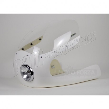 Kit Semi-carénage Cafe Racer fibre de verre 350-1000 CM3 lampe 4 pouces 1/2 MOTOFORZA