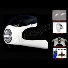 Kit Semi-carénage Cafe Racer fibre de verre BMW R80, 90, 100 lampe 7 pouces