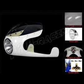 Kit Semi-carénage Cafe Racer Route fibre de verre LAVERDA, MOTO GUZZI, ...