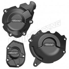 Kit de 3 protections de carter GB Racing Z1000 2010-2020, Z1000SX 2011-2020, Versys 1000 2012-2020