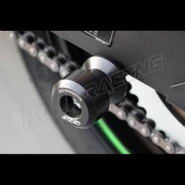 Diabolos support béquille M10x1.25 GSG MOTO Ninja 125, Z125 2019 plastique Noir