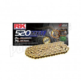 Chaine RK 520MXU UW'RING Racing Ultra renforcée dorée
