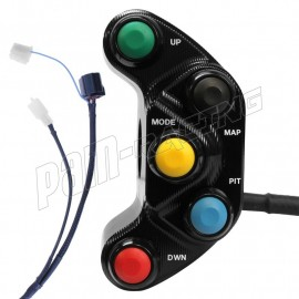 Commodo racing gauche R1 2018-2020 faisceau GYTR Plug & Play Carraro Engineering