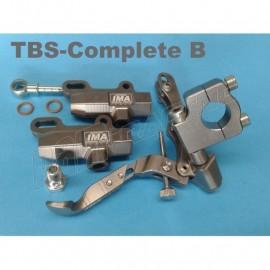 Kit freinage complet au pouce et au pied fixation tube de guidon IMA Special Parts
